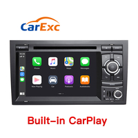Android 9.0 Autoradio Built in CarPlay GPS Navigation Compatible With For Audi A4 B6 B7 S4 B7 B6 RS4 2002 2008 SEAT Exeo Radio