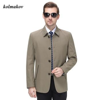 KOLMAKOV New Arrival Style Men's Leiseure Blazers Jacket Business Casual Solid Zipper Loose Jacket Coat Plus Size M-4XL