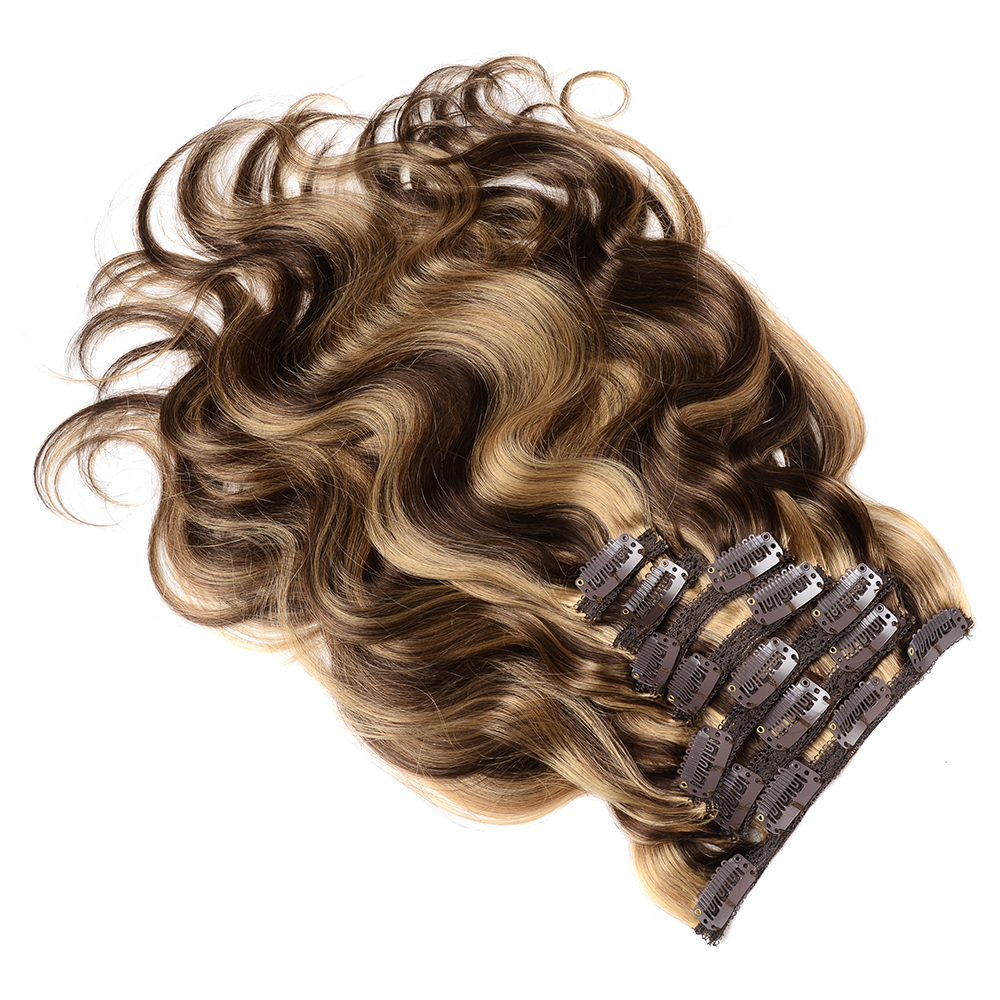 Extensions Doreen Human-Hair Machine-Made Clip-In Remy Caramel-Color Natural 280g 240g
