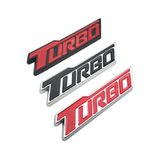 Metal Car Accessories Rear Lid TURBO Auto Emblem Trunk Sticker Car Styling Badge Decal