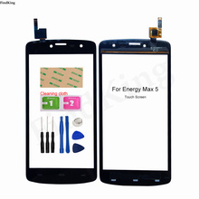 Original Touch Screen For ENERGY Max 5 Touch Panel Touch Screen Digitizer Front Glass Tools 3M Glue