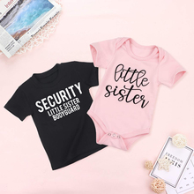 Little Sister Outfits Shirt Bodyguard Sibling Matching Kids Tops Tees Security