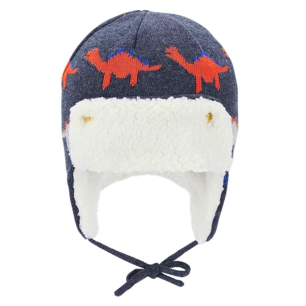 ฤดูหนาว WARM หมวกเด็กทารกเด็กวัยหัดเดิน PILOT Aviator หมวกอบอุ่นนุ่ม Eargflap หมวก Beanies หมวกหมวกนักบินสำหรับ 0-4 ปี
