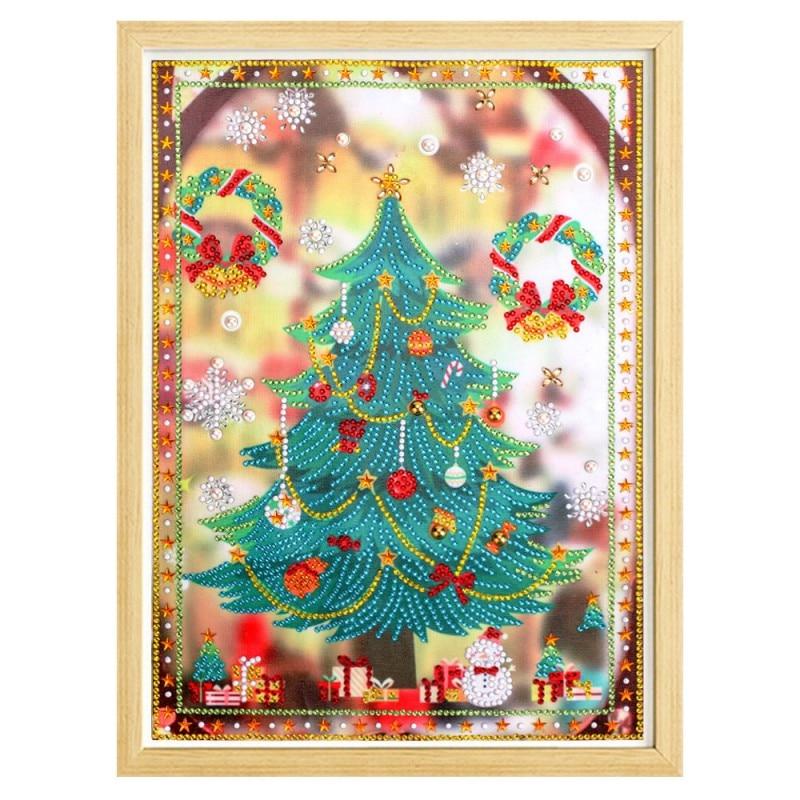 Festival de natal Criativo Bonito Brilhante Árvore Cheistmas Pintura Diamante Casa Decoração Do Partido Decoração de Festa Superumarket