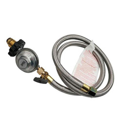 4 FT High Pressure Gas Fireplace Replacement Parts POL Type 30PSI Propane Regulator with Control Valve