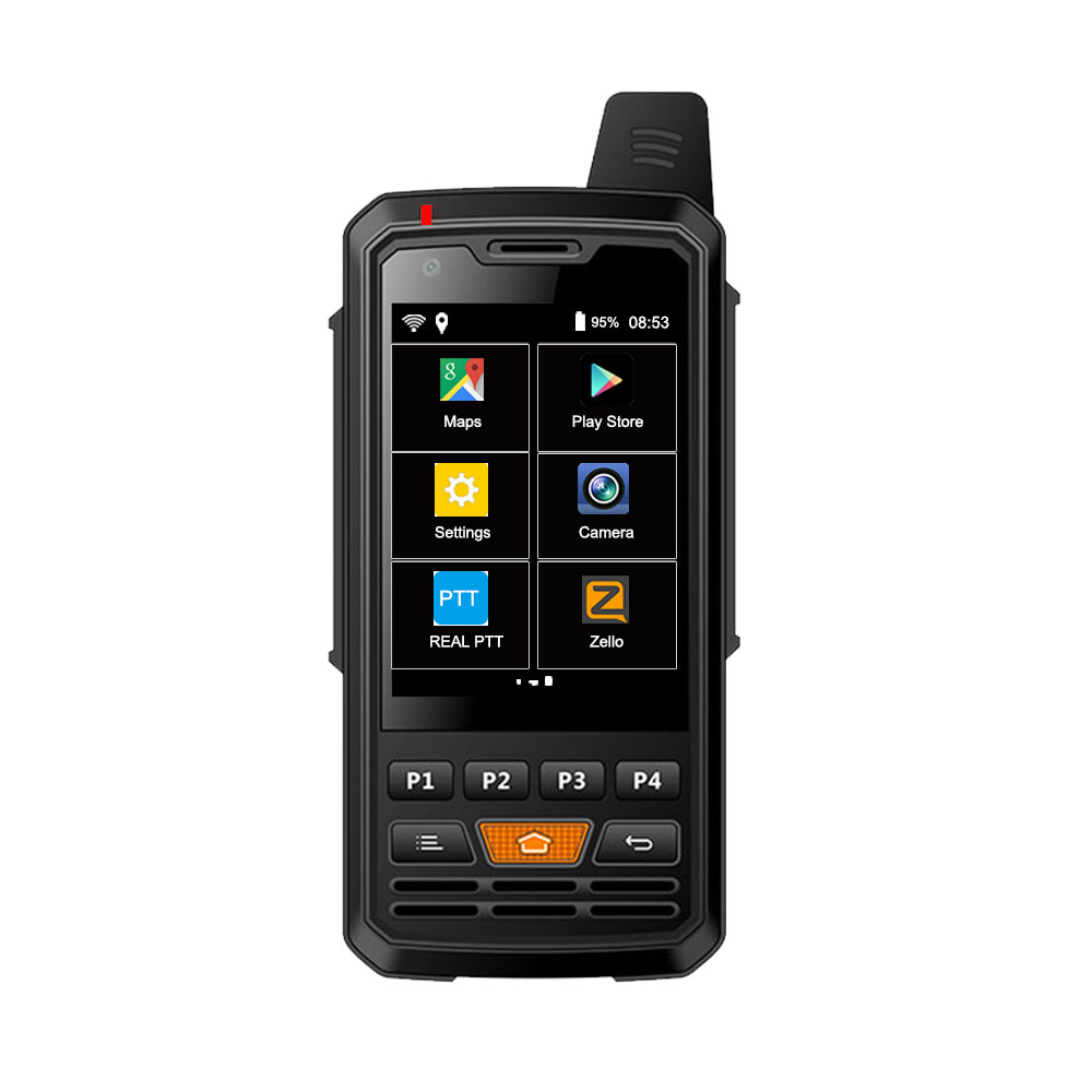 Anysecu 4G Network Radio F50 4000mAh Android 6.0 Smart Phone POC Radio LTE/WCDMA/GSM Walkie Talkie Work With Real-PTT Zello