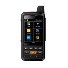 Rádio de rede 4g p3 de uniwa f50 4g 4000mah android 6.0 telefone inteligente poc rádio lte/wcdma/gsm walkie talkie trabalho real ptt zello