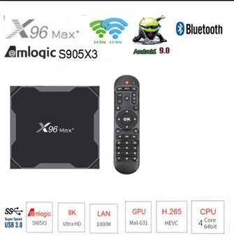 X96 max plus 25 uds Dispositivo de TV inteligente Android9.0 Amlogic S905X3 Quad Core 32GB 64GB 2,4G y 5,0G WIIF BT4.0 1000M 8K Set top Box