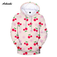 Fashion New Fruit Hoodies Men/Women Hoody Sweatshirts Hooded Mens Sweet Cherry Polluver Winter Tracksuit Mens Sportwear Coats