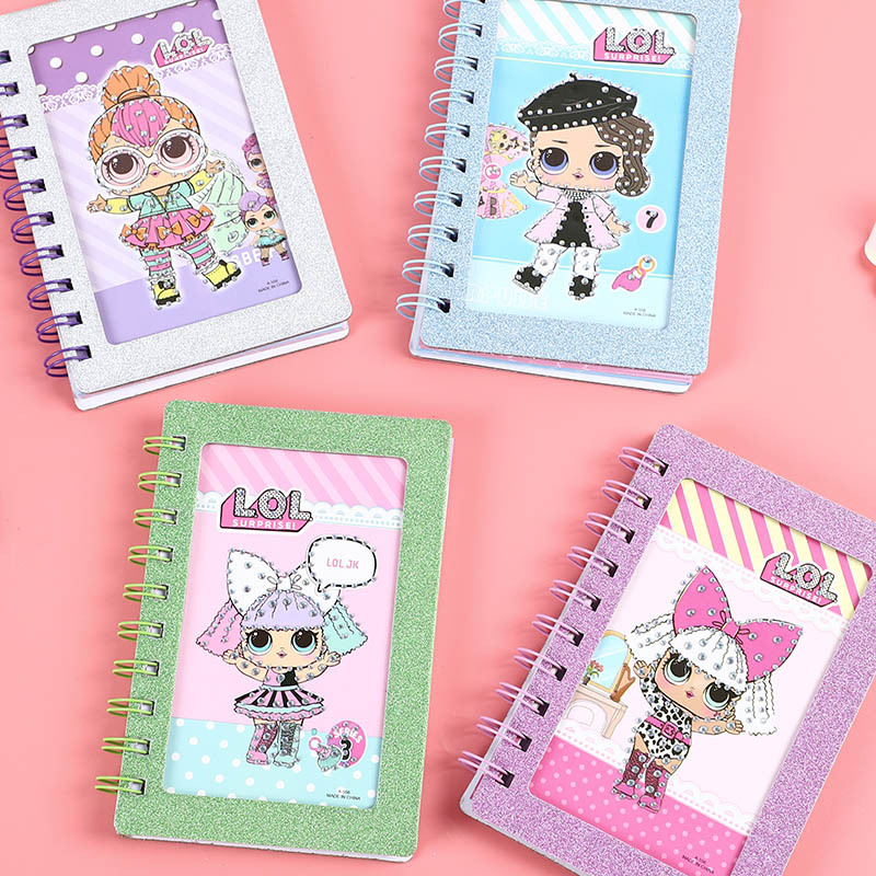 LOL Surprise Doll New Cartoon Notebook Coil Notepad A6 Foreign Trade Explosion Model Girl Diary Girl Learning Birthday Gift