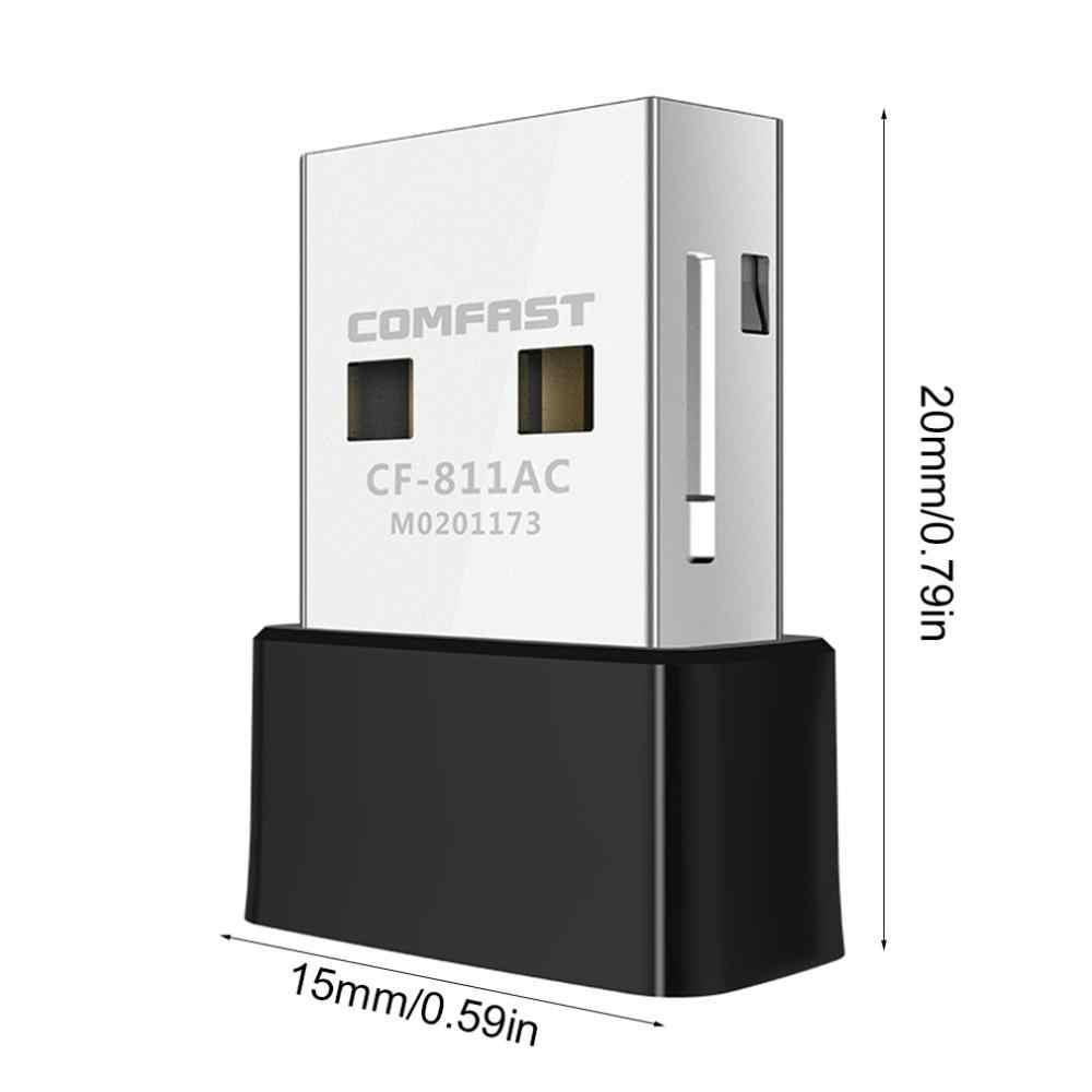 CF-811AC doble banda 650Mbps USB inalámbrico Wifi del adaptador del receptor de 2,4 + 5 Ghz Wifi 802.11n USB/g/ tarjeta de red b/ac para PC