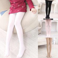 Meninas meias de seda cor pura collants para crianças ballet dança meias de veludo do bebê sockings branco dancewear crianças leggings