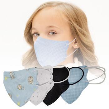5 Pack maski dla dzieci Anti-smog anti-kurz włókniny maski wielokrotnego użytku osłona twarzy dla chłopców dziewcząt na zewnątrz # CW tanie i dobre opinie