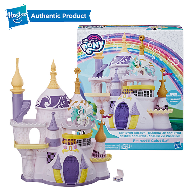 Hasbro My Little Pony Toy Canterlot Castle Playset With Princess Celestia Figure And Accessory For Kids Ages 3 Years Old And Up