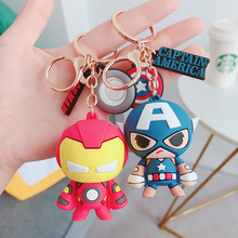 New Fashion The Avengers Keychains Movie Cute Iron Man Spider-Man Car Key Chain Children Bag Pendant Keyring Lovers Holiday Gift