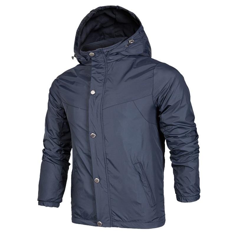 New 2020 Spring Men's Sportswear Waterproof Windbreaker Jacket Fitness Running Casual Fashion Loose Lapel Hooded Jacket M-3XL