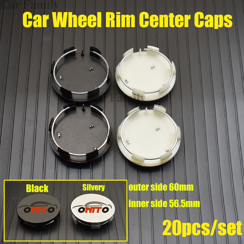 Hot <font><b>20pcs</b></font>/set 60mm Car Rims Wheel Hub Center Caps For <font><b>peugeot</b></font> 207/301/308/309/408/508/807/2008/3008/4007 Car Emblem Covers image
