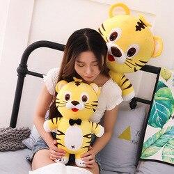 Linda muñeca de tigre grande juguetes de peluche grandes tamaño Tigre almohada larga niños para dormir con muñeca regalo de cumpleaños