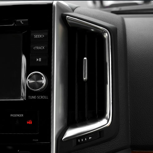 Peach Wood Grain Center Air Vent Outlet Cover Trim For Toyota Camry 2018 2019