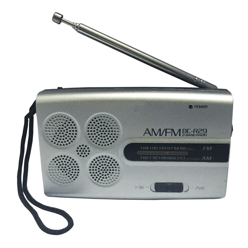 2019 New 1PC BC-R29 Mini Pocket Portable Radio AM FM Radio Receiver Music Morning Exercise Player