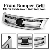 Car Front Bumper Sport Model Chrome Upper Grille Grill Car Styling Grill Replacement Parts For Honda for Accord 2008 2009 2010