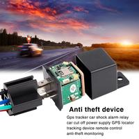 2019 GPS Tracker Car Shock Alarm Relay Car Cut Off Power Supply GPS Locator Tracking Device Remote Control Anti theft Monitoring