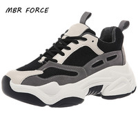 MBR FORCE Baskets femmes printemps plate-forme chaussures plates respirant décontracté chaussures pour femmes