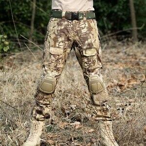 Image 2 - Desert Python Combat Broek Mannen Militaire Kleding Broek Kniebeschermers Tactische Camouflage Jacht Kleding Airsoft Multicam Broek
