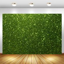 Arrière-plan de photographie murale en herbe verte Flash, fête d'anniversaire, arrière-plan de photographie, fête prénatale, Dessert, bannière de Table