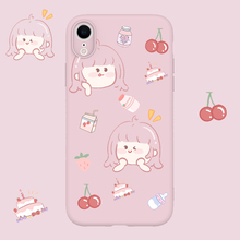 Frosted Relief Tpu Painted Soft Shell Phone Case for IPhone 6 6SP 7 8 Plus X 11 Pro XS MAX XR Cute Girl  Yilida Pattern