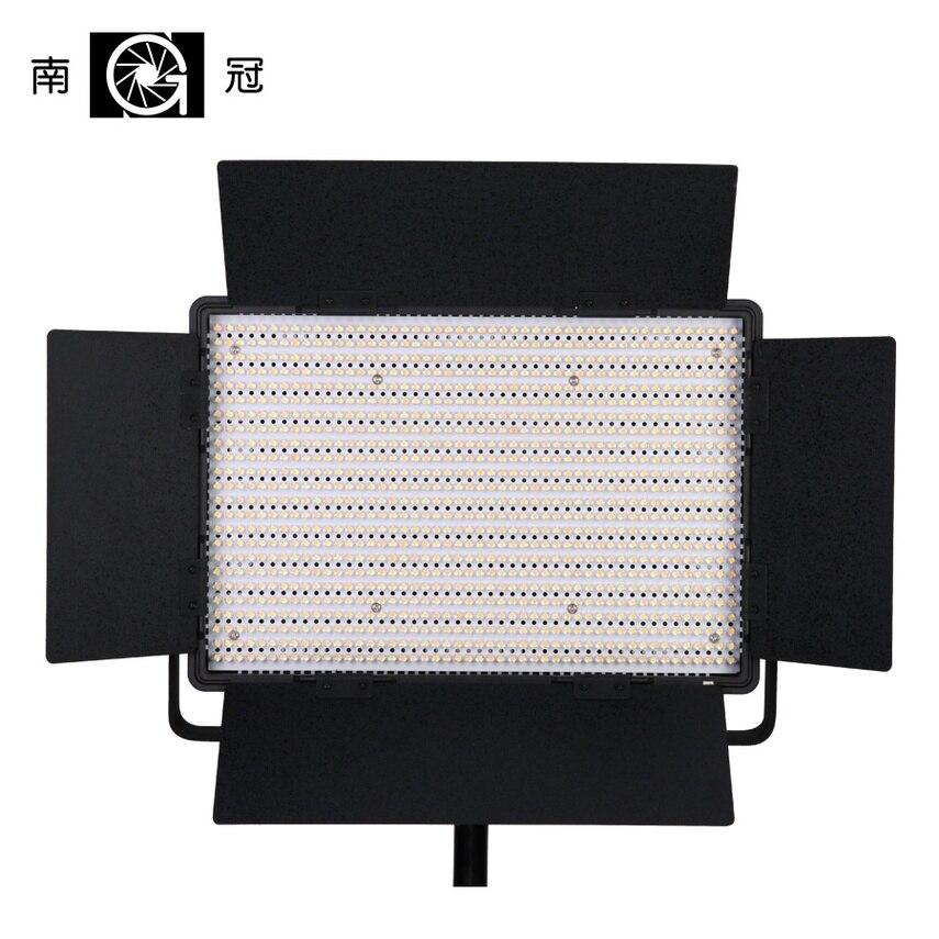 Nanguang CN-1200CSA LED S 3200K à 5600K 7750 Lux LED panneau lumineux de Studio vidéo avec V verrouillage batterie montage extrême CRI RA 95 Bi col