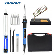 Toolour 80W 220V/110V Adjusting Temp Electric Soldering Iron LCD Digital Display  Welding Repair Tools Carving knife Tool Kit
