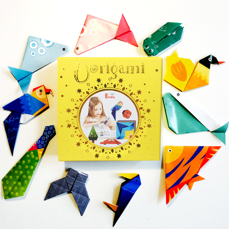 200pcs Cartoon Animal Origami Paper Folding Kids Crafts Kit Diy Craft Paper Scrapbooking Decor Kindergarten Early Education Toys
