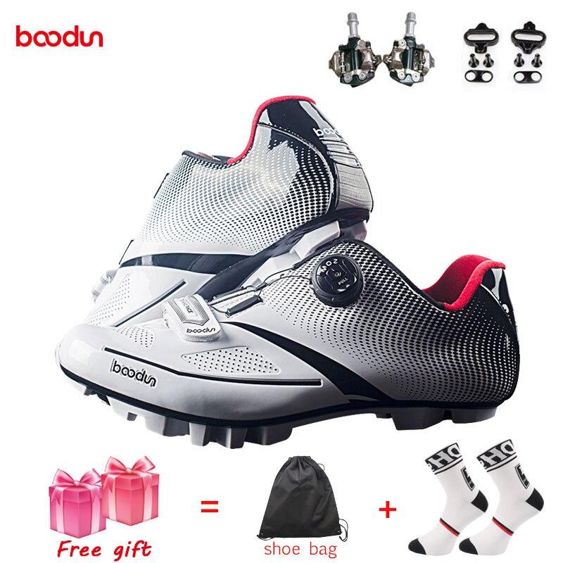 BOODUN, дышащий материал, профессиональная обувь для велоспорта, MTB, велосипед, самоблокирующаяся обувь, сверхлегкие атлетические гоночные кроссовки, Sapatos de ciclismo
