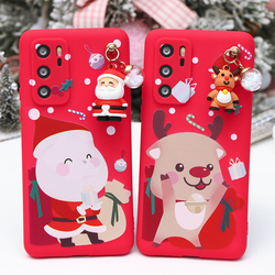 For Huawei Honor 9S 9C 9X 9A 8A 8X Play 4T Pro 9A X10 Nove 7 Pro 30S 20i 20 X10 10 9 Lite Cartoons Christmas Santa 3D Doll Case