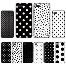 Black And White Polka Dot Newly Arrived Black Cell Phone Case For Huawei Honor 7C 7A 8X 8A 9 10 10i Lite 20 NOVA 3i 3e for huawei honor mate 7c 7a 8 8x 9 9n 10 20 nova 3 3e 3i pro lite black silicon phone case adventure time style