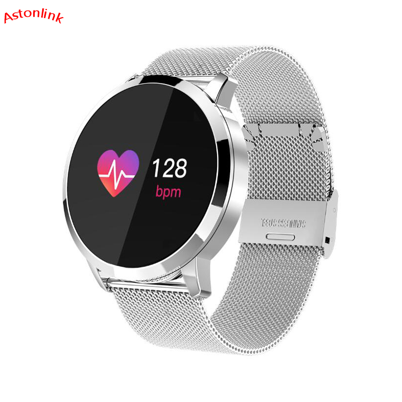 Smart Wristband Q8 Smartwatch OLED Color Screen women Fashion Fitness Tracker Heart Rate Monitor Sports Watches Fully Compatible