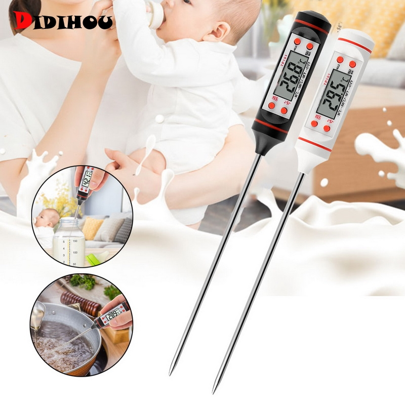 DIDIHOU Meat Thermometer Digital BBQ Thermometer Electronic Cooking Food Thermometer  Water Milk Kitchen Oven Thermometer