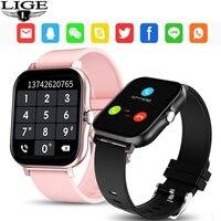 En este momento 2021 nuevo reloj inteligente con los hombres y las mujeres Bluetooth llamada Fitness Tracker Laidies reloj inteligente Monitor de ritmo cardíaco durante el sueño del hombre de la mujer Relojes