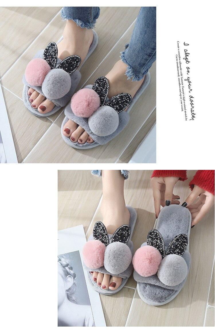 Mulheres chinelos de inverno sapatos casa quente