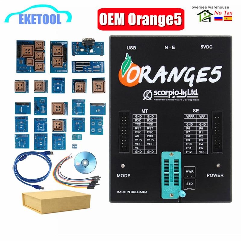 ORANGE 5 OEM ECU Programmer Adapter V1.34 Full Adapters Hardware+Enhanced Function Orange 5 V1.35 Full Adapter Set