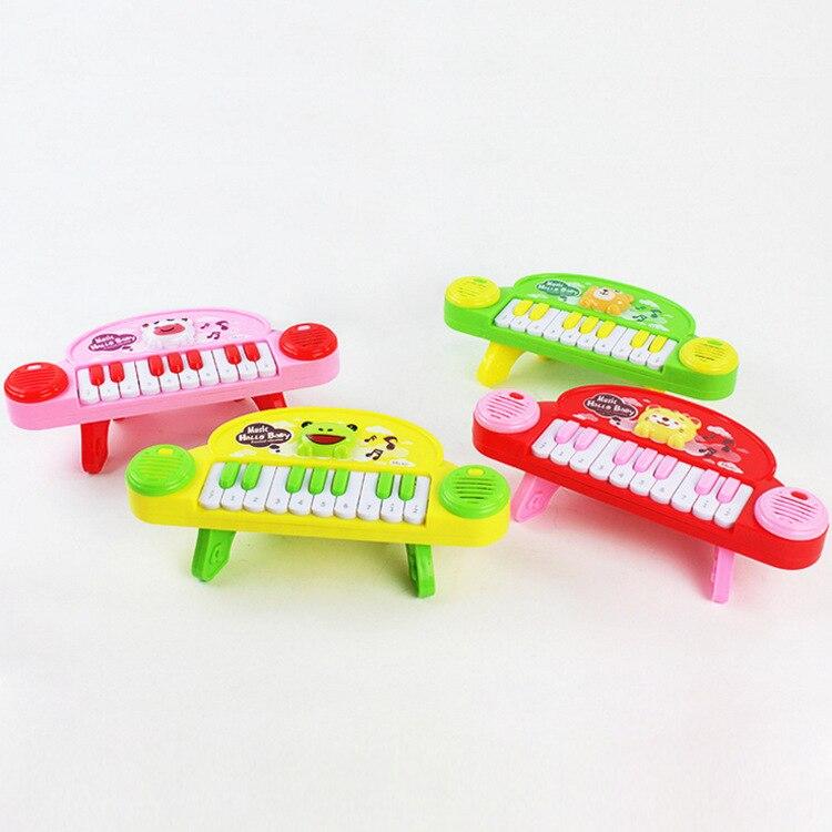 Early Childhood Cartoon Children Electronic Organ Toy CHILDREN'S Music Shining Model Piano With Piano Feet Kids Gift
