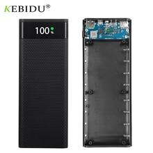 Duplo usb micro usb tipo c power bank escudo 5v/4.5a diy 8x18650 caso caixa de armazenamento carga da bateria carga super rápida sem bateria
