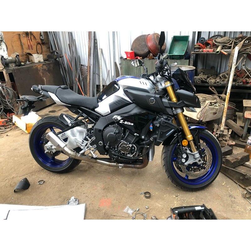 Мотоцикл нержавеющая средняя труба с хвостом выхлопной трубы