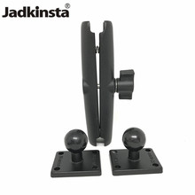 Jadkinsta Aluminum Ball Base Combo Double Socket Arm Square Mounting Base with AMPs Hole Pattern for Garmin for TomTom GPS