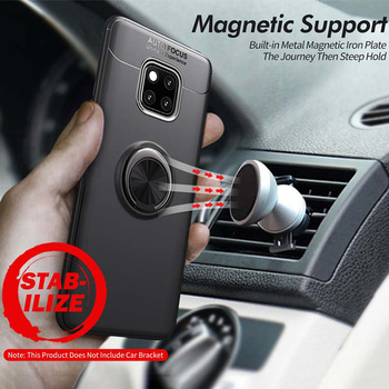 Magnetic Car Ring Holder Case For Huawei Mate 30 9 10 Pro 20 Lite 20X TPU Silicone Stand Phone Cover Coque image
