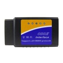 ELM327 WIFI V1.5 OBD2 araba teşhis tarayıcı en iyi Elm327 WI FI Mini ELM 327 V 1.5 OBD 2 iOS teşhis aracı