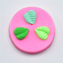 4YANG DIY Leaf Press Molding Silicone Mold Cake Decorating Fondant Molds 3D Leaves Chocolate Candy Fimo Clay Mould