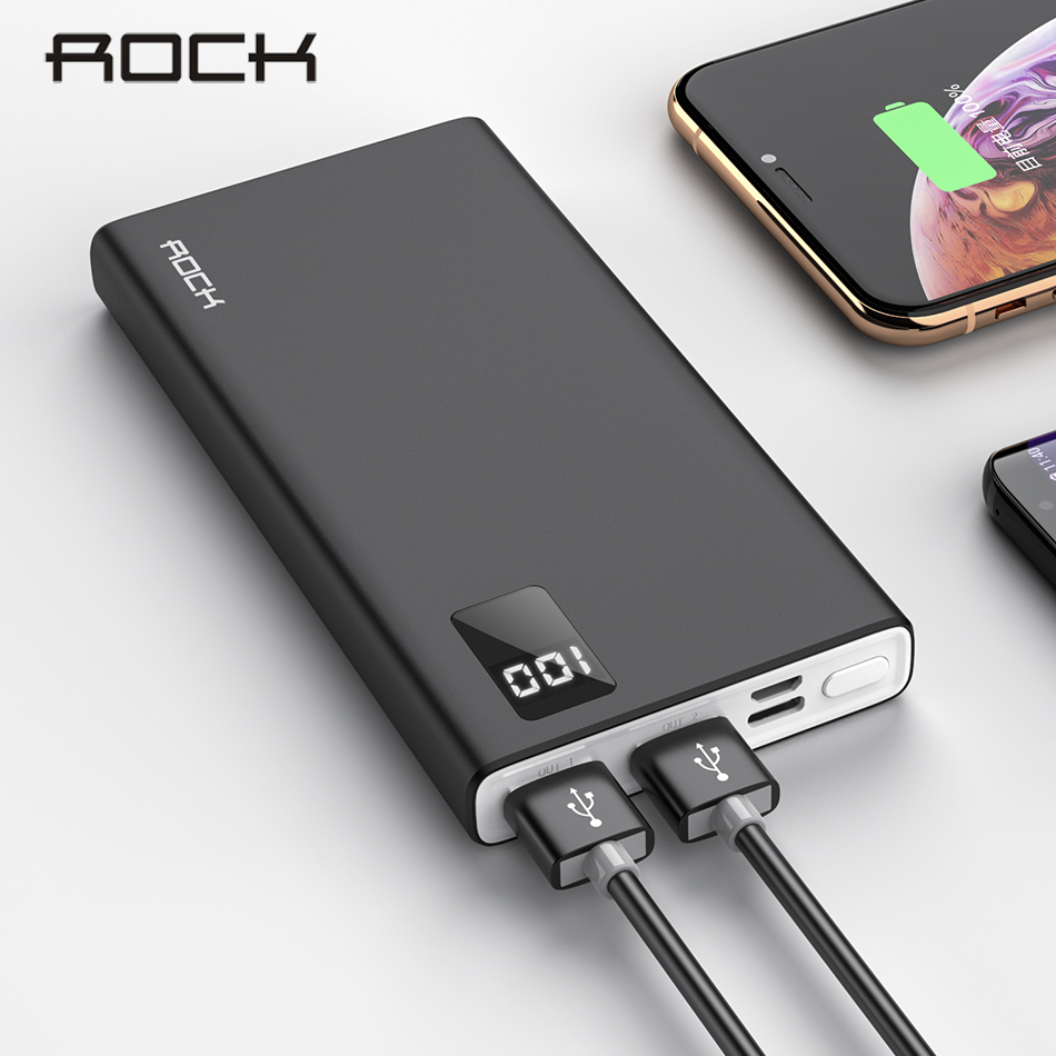 ROCK Power-Bank External-Battery Fast-Charging-Charger Type-C Xiaomi iPhone Portable title=