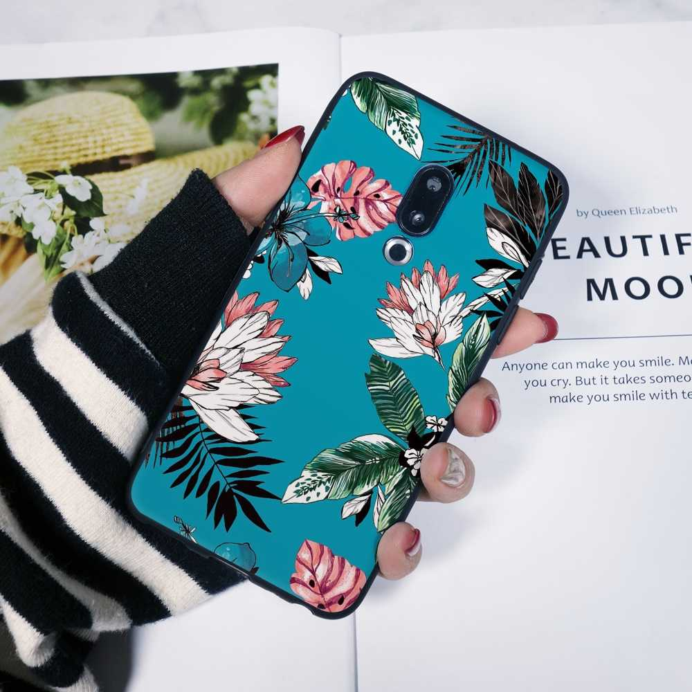 Zurück Abdeckung Für Meizu U10 U20 Pro 6 7 Plus Silikon Floral Gelb Rosa Blume Für Meizu 16th 16x15 Lite 16 Plus Telefon Fall